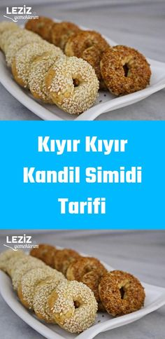 Kıyır Kıyır Kandil Simidi Tarifi Bagel, Doughnut, Baking Recipes, Bread, Cookies, Desserts, Om, Cooking Recipes, Crack Crackers