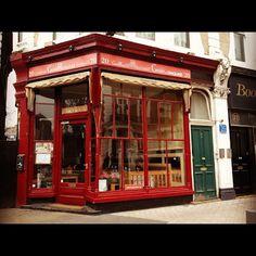 Outside the corner of the tube at South Kensington, London