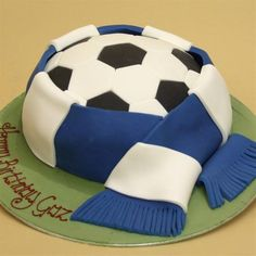 Football Themed Cake From The Cake Shop