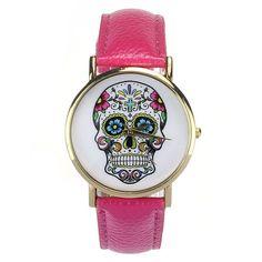 Fashion Design Women Dress Watches Quartz Watch fashion Punk SKULL Watch Ladies Men Sport Watch Montres Femmes 2015