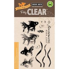 Hero Arts Clear Stamps, Color Layering Goldfish -