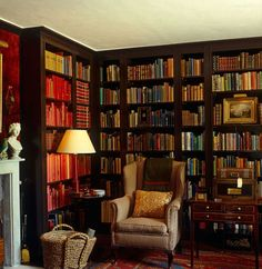Leave me with my books library room, dream library, library ideas, beautifu Library Room, Dream Library, Library Ideas, Lobby Interior, Interior Exterior, Wallpaper English, Library Bookshelves, Bookcases, Open Bookcase