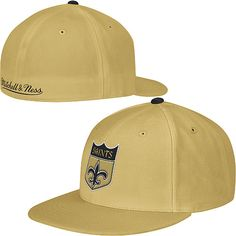 promo code 1086e 22d67 Mitchell  amp  Ness New Orleans Saints Thowback Alternate Logo Fitted Hat -  NFLShop.com