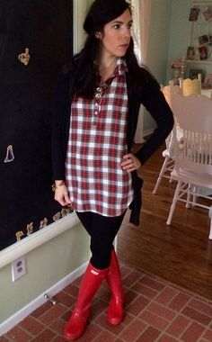 Winter layers! Flannel and hunters are the perfect combo