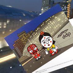 ::Korea Souvenir:: 봉산탈 DDP 엽서 DDP(Dongdaemun Design Plaza) Postcard