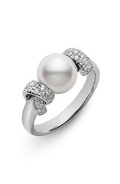 Mikimoto 'Moderna 8 Collection' Akoya Cultured Pearl Ring