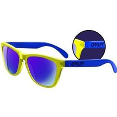 37f52d5a00c5 Oakley Frogskins Blacklight Sunglasses - Yellow Blue with Blue Iridium