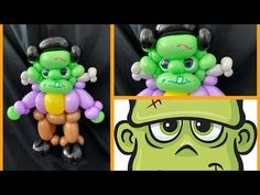 Learn how to make a cute Frankie balloon design. Halloween Balloons, Halloween Tutorial, Balloon Animals, Frankenstein, Have Fun, Make It Yourself, Cute, Youtube, How To Make