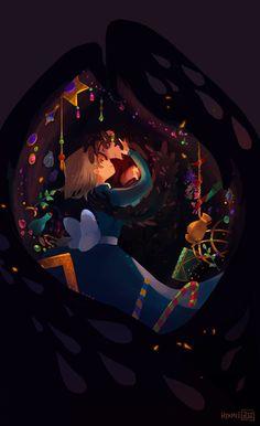 Illustration art howl's moving castle My art Fanart studio ghibli Sophie Howl Totoro, Studio Ghibli Art, Studio Ghibli Movies, Hayao Miyazaki, Howl's Moving Castle, Howls Moving Castle Wallpaper, Manga Anime, Anime Art, Le Vent Se Leve