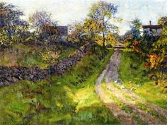 Hillside Road, Mystic, Connecticut - 1924 | Charles Harold Davis #American, 1856-1933 Medium: Painting - oil on canvas | Location: Florence Griswold Museum  (United States - Old Lyme, Connecticut)