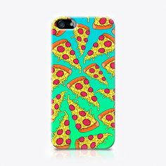The Small Print. Pizza (35 AUD) ❤ liked on Polyvore featuring accessories, tech accessories, phone cases and capas de iphone