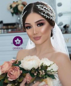 Aystar Bridal Makeup Looks, Bridal Hair Pins, Bride Makeup, Wedding Hair And Makeup, Bridal Beauty, Elegant Wedding Hair, Wedding Hair Down, Wedding Hair Pieces, Wedding Hairstyles With Veil