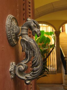 Dragon doorknob