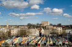 Norwich Market Place & Castle, Norfolk