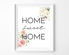 Printable wall decor art is a must since you purchase the print once, but you can print it as many times as you wish! This watercolor themed print, can be mix matched wih many home styles.  Printable quotes are great as: - housewarming gifts - gift for best friend - instant home decor Printable Quotes, Printable Wall Art, Housewarming Gifts, Home Signs, Best Friend Gifts, Home Art, Wall Art Decor, House Warming, Watercolor Art