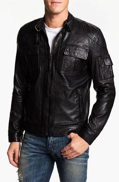 ae71a9461391 Men Leather Jacket Motorcycle Genuine New Biker Bomber Coat   MJ 510
