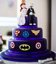 Comic book loving couple lay on their ultimate superhero-inspired ...