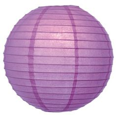 WeGlow International 8 Deluxe Paper Lantern  Light Purple 3 Pieces ** Continue to the product at the image link.