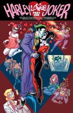 Harley Quinn & The Joker Joker Comic, Harley Quinn Comic, Joker Art, Joker And Harley Quinn, Comic Art, Joker Batman, Property Of Joker, Dc Comics, Harley Quinn Drawing