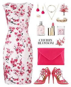 Cherry Blossom by michela68 on Polyvore featuring polyvore, fashion, style, Precis Petite, Aquazzura, John Lewis, Victor Velyan, Charming Life, Shaun Leane, Clarins and clothing