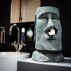 Originelle Geschenkideen - Moai Taschentuchhalter - Osterinsel-Style