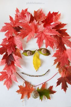 Leaf Faces - An easy, low-mess, nature craft - Picklebums Creative Activities, Art Activities, Creative Crafts, Kid N Play, May Arts, Face Pictures, Nature Collection, Old Trees