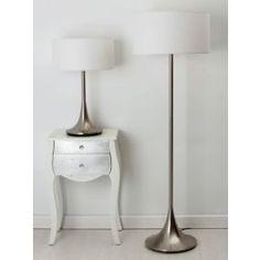 lmpara de pie foco moderna plata iluminacin led luminarias pinterest hogar candelabros y luces