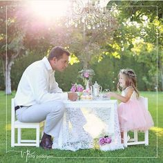 """Love this picture!! Daddy & daughter tea party!! By…"