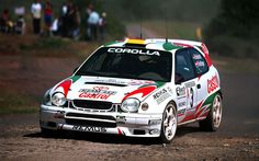 Toyota Corolla WRC rally car - Isolde Holderied Hunsrück Rallye 1998