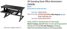 Amazon Canada Deals Of The Day: Save 33% on 3M Standing Desk Office Workstation & 30% on Resident Evil: Vendetta... http://www.lavahotdeals.com/ca/cheap/amazon-canada-deals-day-save-33-3m-standing/216642?utm_source=pinterest&utm_medium=rss&utm_campaign=at_lavahotdeals
