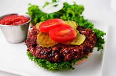 3 Ingredient  Vegan Veggie Burger Recipe