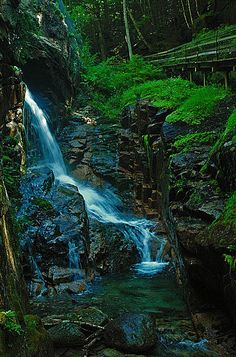 Waterfall in Flume Gorge II - White Mountains, New Hampshire