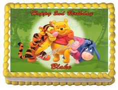 WINNIE THE POOH Edible Birthday Party Decoration by EdibleMeImages, $8.50