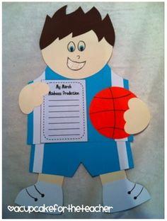 basketball buddy {a craftivity} - A Cupcake for the Teacher - TeachersPayTeachers.com