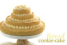 tiered cookie cake @createdbydiane