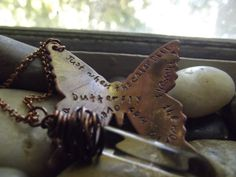 Rustic butterfly pendant by patsdesign on Etsy, $22.50