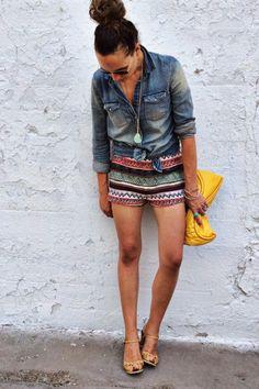 Camisa jeans com shorts - Como usar camisa jeans