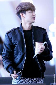 Chanwoo Ikon, Leather Jacket, Boys, Fictional Characters, Life, Studded Leather Jacket, Baby Boys, Leather Jackets, Senior Boys