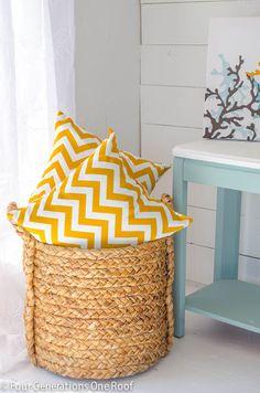 Decorating with yellow chevron pattern