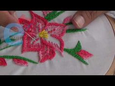 Hand Embroidery: Rope stitch - YouTube