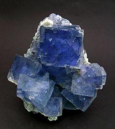 """Fluorite, Xianghualing, Linwu County, Chenzhou, Hunan  China (±2003) Specimen size: 9 × 8.5 × 7.5 cm = 3.5"""" × 3.3"""" × 3.0"""""""