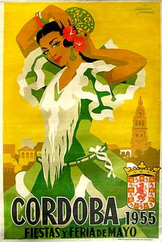 By Alvarez Gomez, Cordoba y feria de mayo. - Tapas Party - By Alvarez Gomez, Cordoba y feria de mayo. Heather Creswell Creswell Taylor You are in the rig - Poster Art, Retro Poster, Kunst Poster, Poster Prints, Poster Vintage, Vintage Travel Posters, Vintage Postcards, Vintage Advertisements, Vintage Ads
