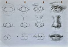Delineate Your Lips Augen, Mund und Nase zeichnen lernen-dekoking-com - How to draw lips correctly? The first thing to keep in mind is the shape of your lips: if they are thin or thick and if you have the M (or heart) pronounced or barely suggested. Drawing Lessons, Drawing Techniques, Drawing Projects, Drawing Sketches, Pencil Drawings, Drawing Faces, Mouth Drawing, Nose Drawing, Drawings Of Eyes