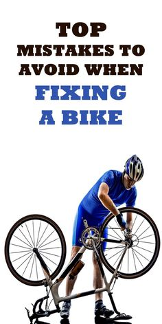 MISTAKES TO AVOID WHEN FIXING A BIKE: Bike maintenance can seem tricky, but if you avoid these mistakes your whole riding experience could be changed. Plus, its one less visit to the bike mechanic... #cycling #bike #bicycle
