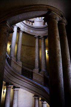 Francisco Borromini staircase  in Rome