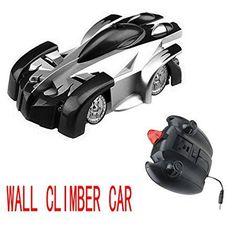 Angel Kiss Spiderman Wall Climber Climbing Car RC Stunt Car Toy Radio Remote Control Car -Radio Control Mini Zero Gravity Kids Electric Toy -Black