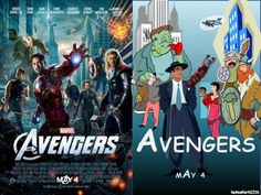 What the Avengers poster would look like if designers could only use clip art & comic sans font.