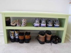 DIY Shoe Storage: DIY Shoe Storage With Simple Design ~ gozetta.com Furniture Inspiration
