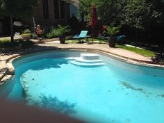 Water coming to our pool. Now need to more optimize in our pool. Above Ground Fiberglass Pools, Small Inground Swimming Pools, Roman Pool, Round Rock, Pool Builders, Rock Pools, Children, Building, Water