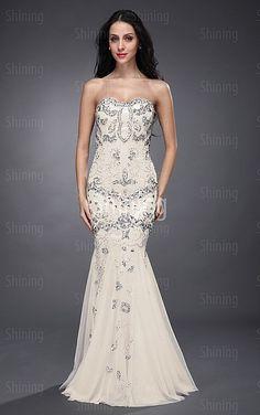 Ivory Mermaid Floor-length Sweetheart Dress